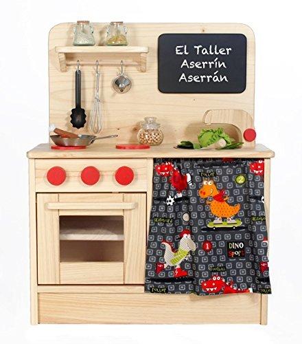 DINOS- Cocina de Juguete de Madera para Niños: Amazon.es: Handmade