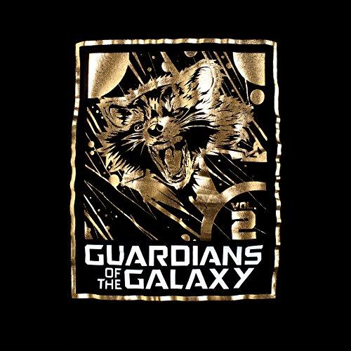 Guardiani della Galassia Vol 2 - Canotta donna Rocket Raccoon cotone nero - XL