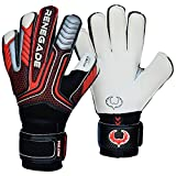 details west ho - R-GK Vulcan Torch Flat Cut (Size 7) Goalkeeping Gloves With Pro Fingersaves - Improve Confidence & Performance With Padded GK Gloves - Outdoor or Indoor Soccer - Adult, Youth, & Kids