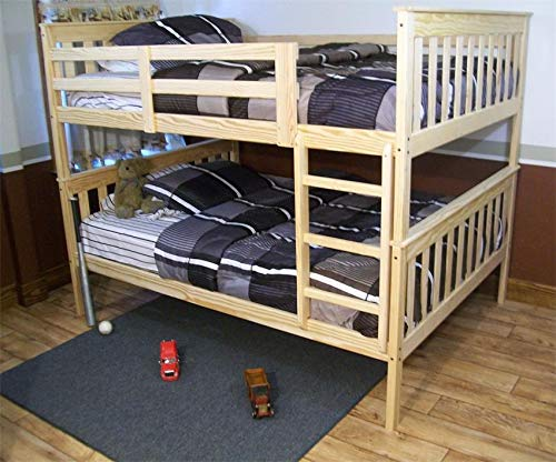 (DutchCrafters Amish Kids Full Over Full Mission Bunk Bed (Unfinished Pine))