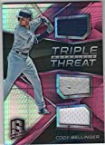 #1: 2017 Panini Chronicles Triple Threat Materials Jersey Pink #3 Cody Bellinger Relic SER/49 Los Angeles Dodgers