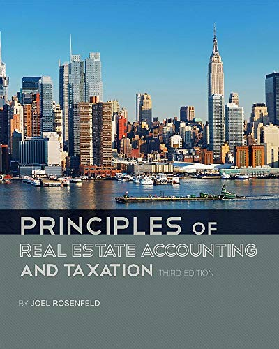 Principles of Real Estate Accounting and Taxation