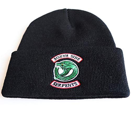 SUPER Q Riverdale Cosplay Beanie Skull Cap for Men Women Watchman Hats Black
