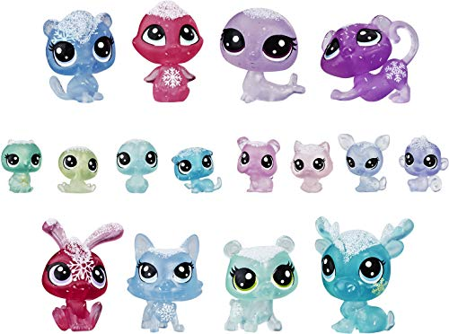 Littlest Pet Shop Frosted Wonderland Pet Pack Toy, Includes 16 Pets, Ages 4 & Up (For Pet Shop Girls Toys)