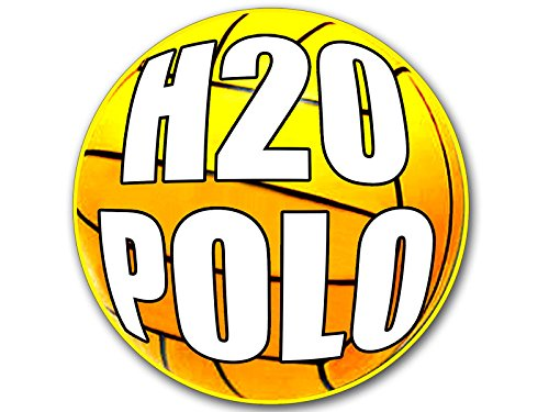 Water Polo Sticker Bumper - American Vinyl ROUND Water Polo BALL Shaped H2O POLO Sticker (team decal play h20)