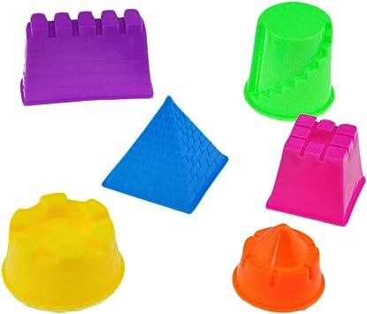 VANKER 6Pcs Funny Kids Small Sand Castle Building Model Beach DIY Toys Random Color