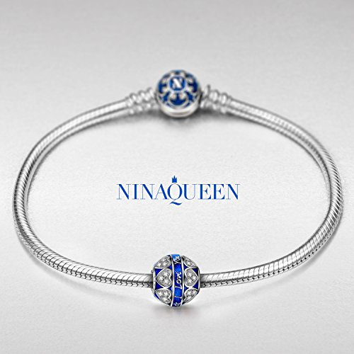 """NinaQueen """"Endless Love"""" 925 Sterling Silver Lettered Charms Valentines gift for her"""