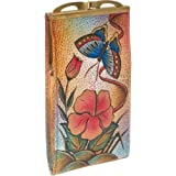 Anuschka Genuine Leather Hand Painted Eye/Sunglass Case (Passionate Peacock)