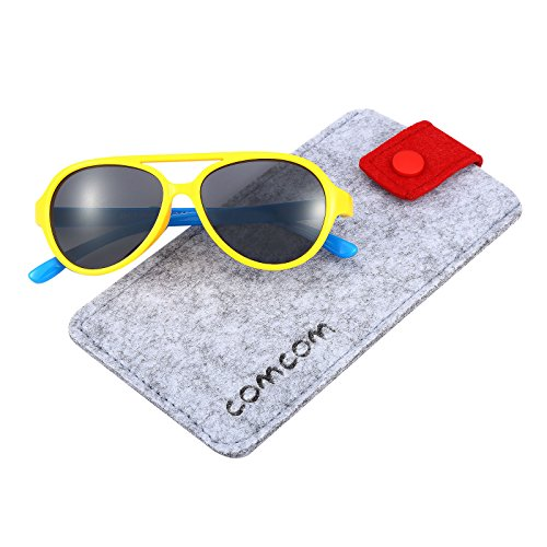 Rubber Flexible Kids Polarized Sunglasses for Baby and Children Age 3-10 - Bendable Sunglasses