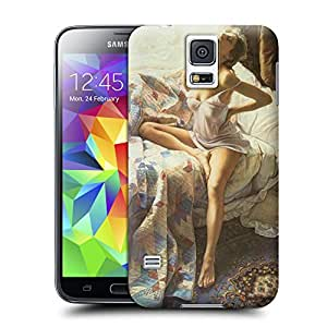 Tostore Women in the Arts A Hot Woman in the Bed battery cover for samsung galaxy s5 case