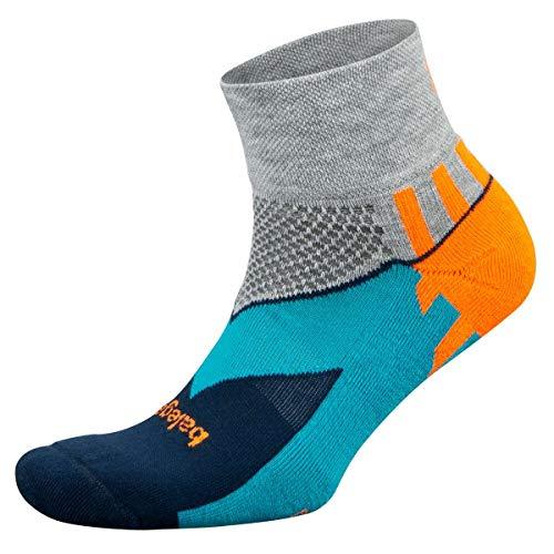 Balega Enduro V-Tech Quarter Socks For Men and Women (1 Pair), Midgrey/Ink, Medium