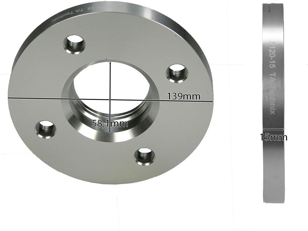 5x98 mm 30mm pro Achse TA TECHNIX Spurverbreiterung Spurplatten 15mm pro Seite
