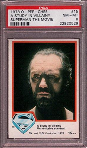 1978 O-PEE-CHEE SUPERMAN THE MOVIE #15 A STUDY POP 1 PSA 8 N1682993-529
