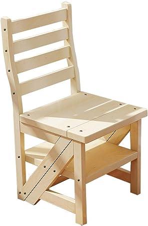 AJJZX Silla-Escalera sólidos Sillas de Madera, Sillas for los niños, Muebles Luz de Acabado for una Sala de Juegos (Estructura Duradera, Juego de 2, Gran Regalo fo: Amazon.es: Hogar