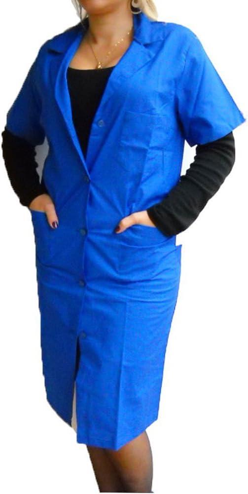 Fratelliditalia - Camisa de mujer, bata de maestra, de algodón, mujer, turquesa, 42: Amazon.es: Deportes y aire libre