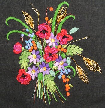 Floral Interlude (Bouquet Crewel Embroidery Kit)