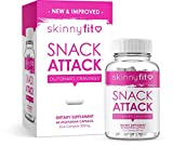 SkinnyFit Snack Attack 60 Vegan Capsules: Natural Metabolism Booster, Healthy Appetite Suppressant Supplement with CLA, Garcinia Cambogia and Green Tea Extract, Boost Energy and Curb Cravings