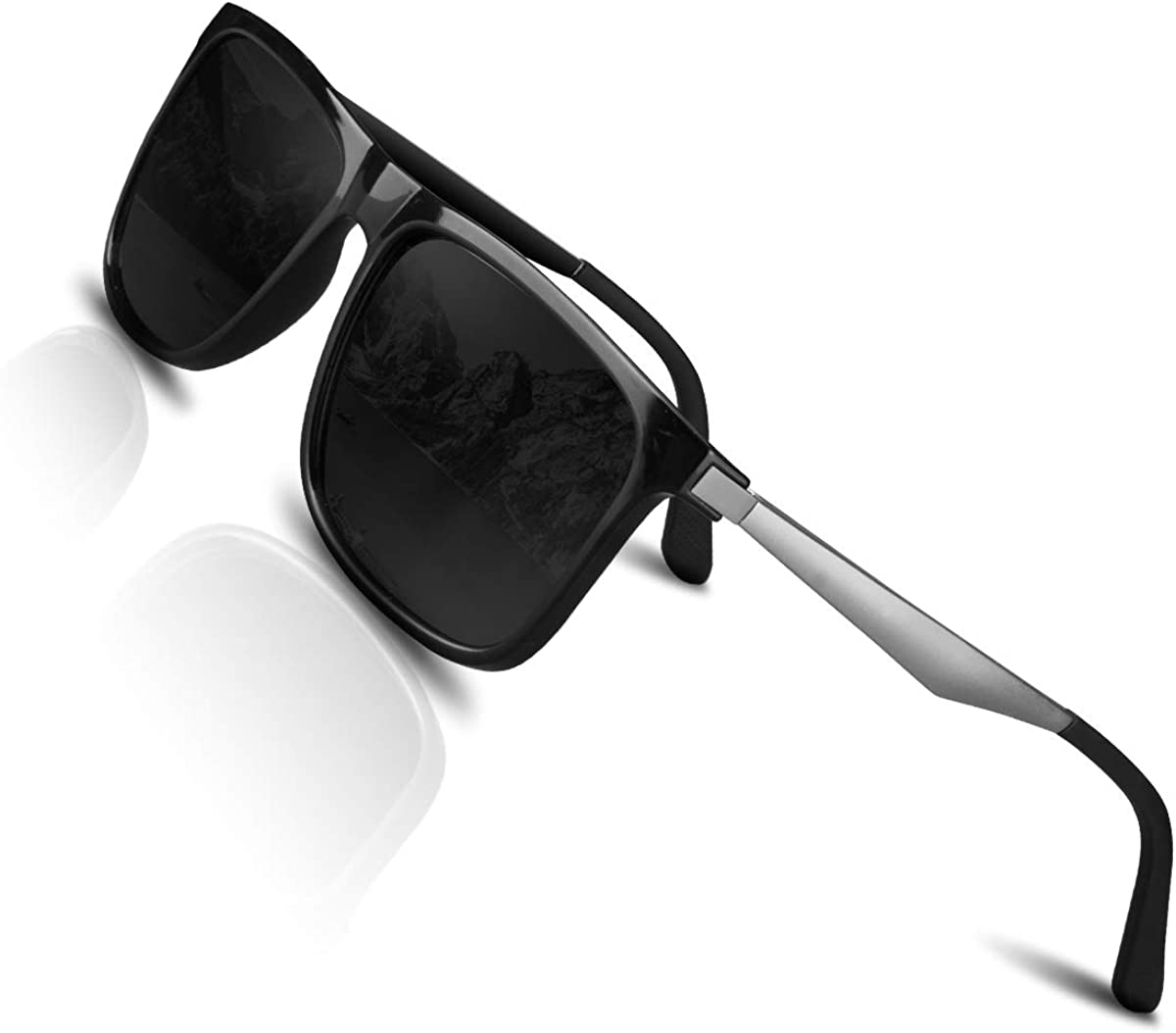 CHEREEKI Gafas de sol Hombre Mujer Polarizadas UV400 Protection Clásico Retro Gafas