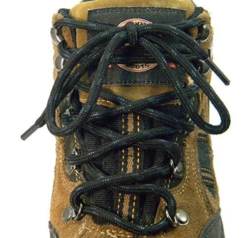 54 Inch Black w/ Black Kevlar proTOUGH(tm) Reinforced Heavy Duty Boot Laces Shoelaces (2 Pair Pack)