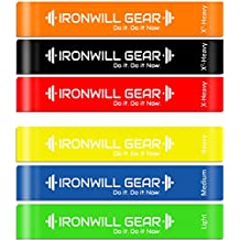 Resistance Loop Bands - Full Set Of 6 Premium Resistance Bands - 12 Inch Exercise Bands Best for Fitness Training, Yoga, Stretching, Therapy, Crossfit - Free Travel Bag & Full Body Workout Resistance Bands Guide