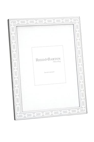 Amazoncom Reed Barton Silver Link 4 By 6 Inch Frame White