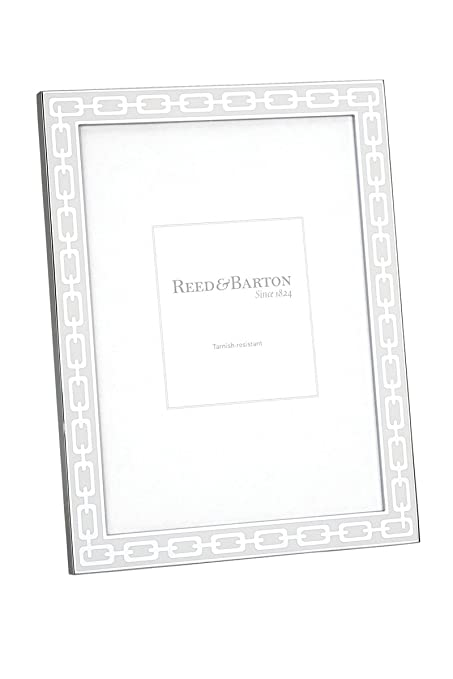 Amazon.com - Reed & Barton Silver Link 4 by 6-Inch Frame, White ...