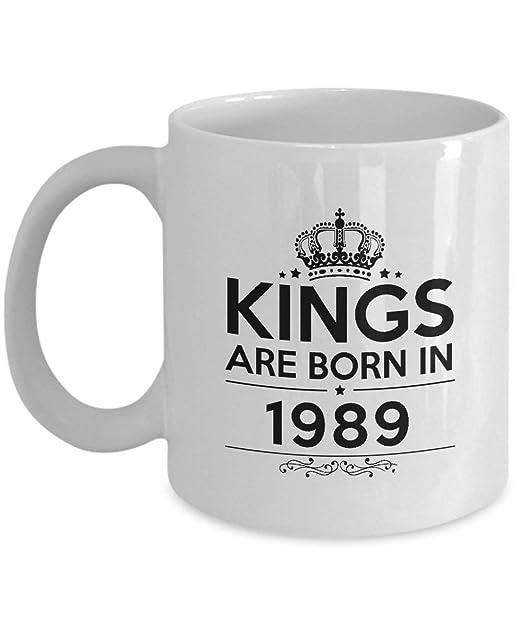 Tazas de feliz cumpleaños - Reyes nacen en 1989 Taza de café ...