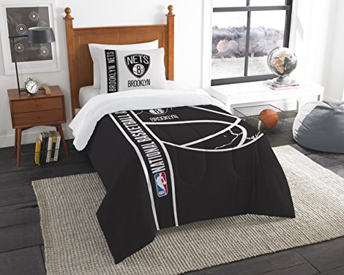 fan products of NBA Brooklyn Nets Basketball Twin Comforter and Sham