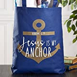 Jesus is My Anchor Tote Bag, 14-1/2 x 16'' H with 3'' Gusset, 12 Pack.