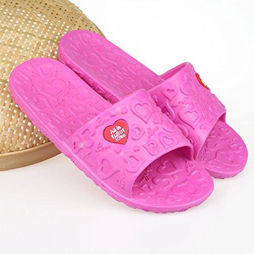bismarckbeer Women Ladies Summer Slippers Sandals Indoor Bathroom Shower Slippers Anti-Slip Watermelon Red u7DSKDb9AF