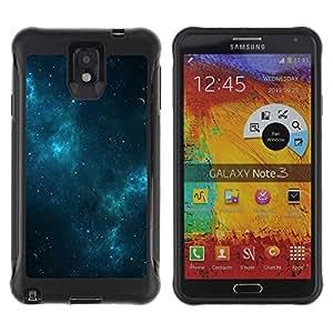 LASTONE PHONE CASE / Suave Silicona Caso Carcasa de Caucho Funda para Samsung Note 3 / Galaxy Stars Blue Night Mist Sky