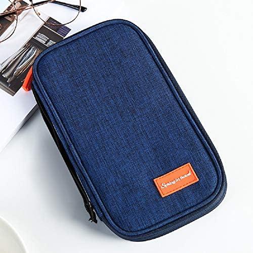 ユニセックスパスポートホルダーをブロックするRFIDを備えたトラベルウォレットオーガナイザー| 男性と女性への贈り物