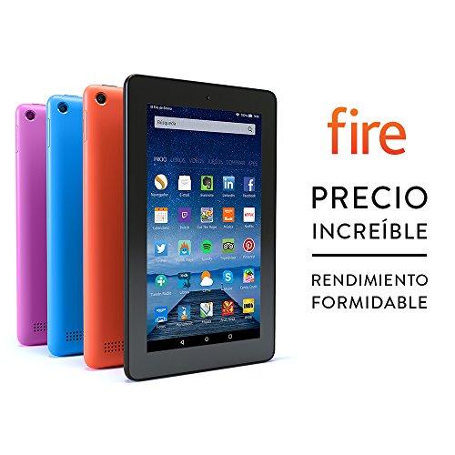 """Tablet Fire, pantalla de 7"""" (17,7 cm), Wi-Fi, 8 GB (Magenta) - incluye ofertas especiales"""