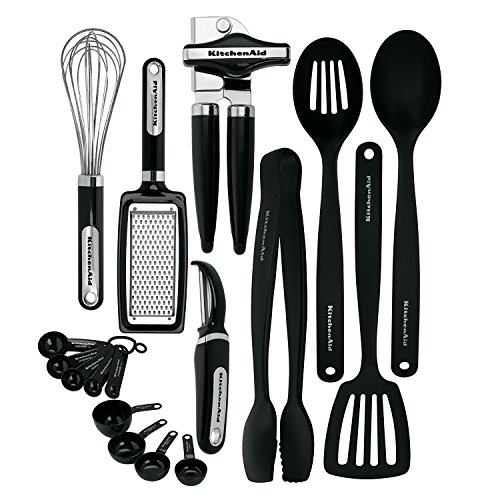 KitchenAid KC448BXOBA 17-Piece Tools and Gadget Set, Black by KitchenAid