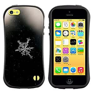 Fuerte Suave TPU GEL Caso Carcasa de Protección Funda para Apple Iphone 5C / Business Style Window Glass White