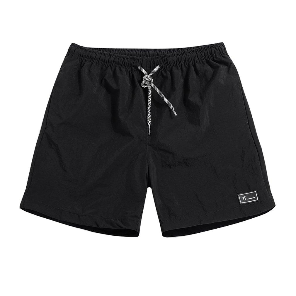 Hombre Verano Pantalones Cortos - Moda Cintura Elástica Secado Rápido Bañadores de Natación Casuales Nadando Surf Pantalones de Playa Trajes de Baño D180508KZ1-Y
