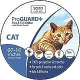 Dog Flea Treatment Collar - Flea Tick Collar - CAT - ProGuard Plus II (safe pet protection from pest bites infestations larvae lice mosquitoes)