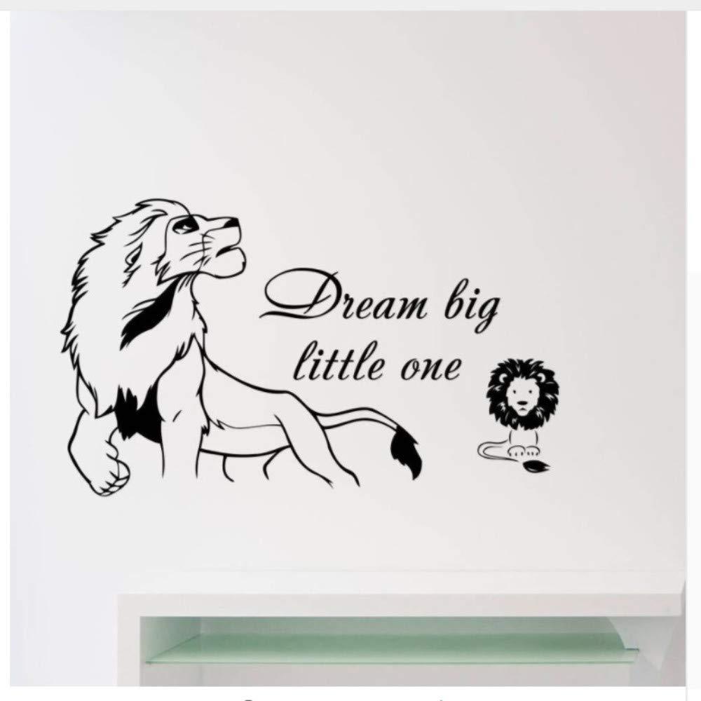 Dream Big Little One Cita Etiqueta de La Pared Rey León Tatuajes ...