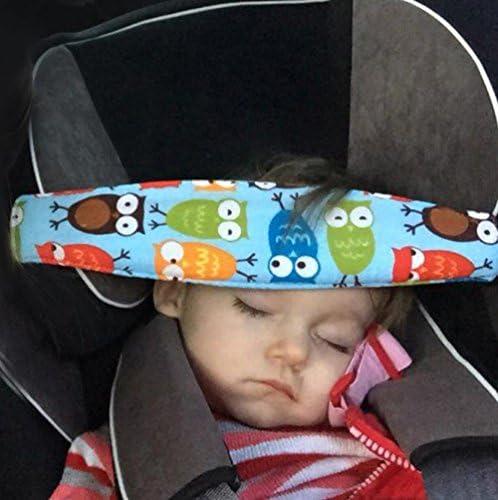 Sillita de coche y asiento para dormir Cintur/ón de sujeci/ón de Cintur/ón segura Cintur/ón de protecci/ón de cuello MINGZE 2 piezas beb/és El soporte para la cabeza Cintur/ón de seguridad posicionador la Cabeza