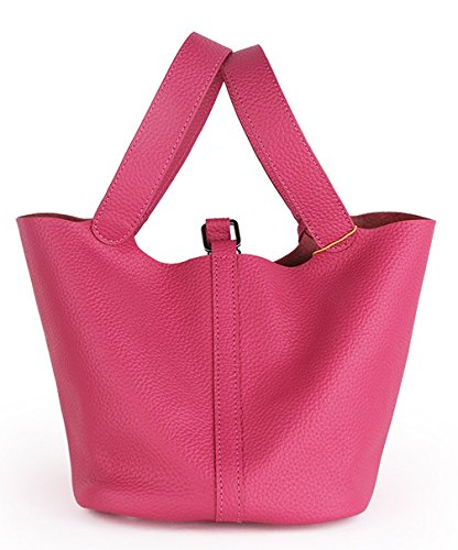 Keshi Leder neuer Stil Damen Handtaschen, Hobo-Bags, Schultertaschen, Beutel, Beuteltaschen, Trend-Bags, Velours, Veloursleder, Wildleder, Tasche Rosa