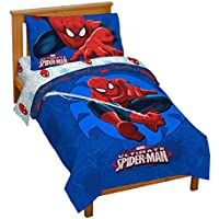 Marvel Spiderman 'Regulator' Toddler 4 Piece Bed Set
