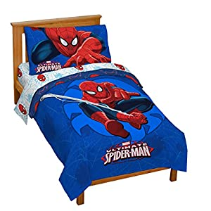 Marvel Spiderman 'Regulator' Toddler 4 Piece Bed Set 5