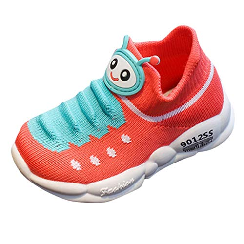jerferr Boys' Cycling Shoes Red (Watermelon red) 22 EU