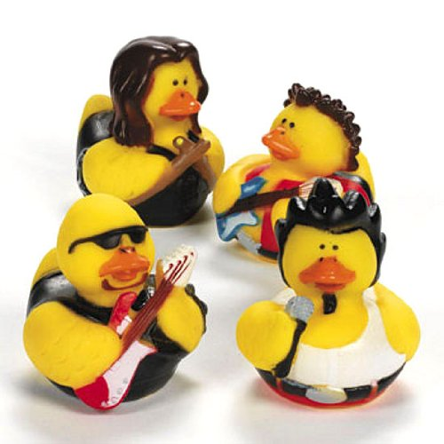 Rock Star Themed Rubber Duckies