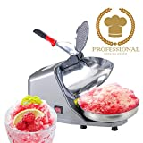 shaved ice machine industrial - Koval Inc. Heavy Duty, Stainless Steel Ice Shaver, Snow Cone Machine, Electric Shaved Ice Machine (143 lbs/hr 200W Ice Shaver)
