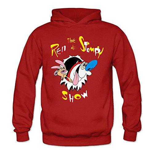 THOELLY Custom Ren And Stimpy Women's Blank Hooded Sweatshirt Fall/Winter