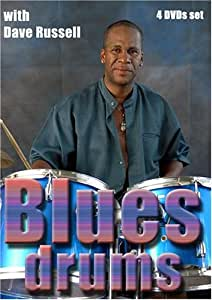 Blues drumming techniques and musicianship with Dave Russell 4 DVDs set