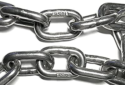 """Stainless Steel 316 Chain 3/8"""" (10mm) Chain (by the foot)"""