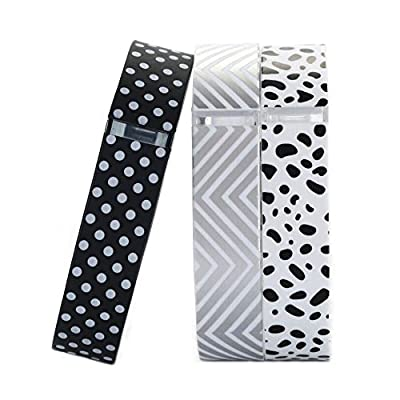 i-smile Replacement Bands with Metal Clasps for Fitbit Flex, Set of 3 with 2 Piece Silicon Fastener Ring by i-smile®