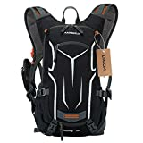 Cycling Rucksack , Waterproof Bike Backpack Breathable and Lightweight Running Backpack with 2L Bladder Hydration Backpack for Fitness Running Hiking Climbing Camping Skiing Biking Trekking - Lixada